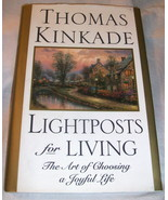 Thomas Kinkade Lightposts for Living  Art Peace Quotes Verse Hard Cover  - $4.95