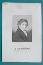 LUDWIG DEVRIENT German Actor Schiller & Shakespeare Plays - 1840s Portra... - $18.00