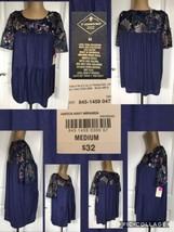 NEW! St. John's Bay Ladies Top Sz Medium Blue Short Bell Sleeves Retail ... - $9.11