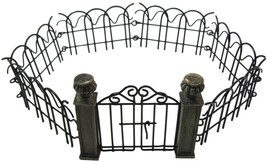 Mini Fairy Garden Pillar Gate and Fence Set Bundle of 2 Accessories for ... - $14.84
