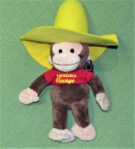 """CURIOUS GEORGE Applause YELLOW HAT Plush Stuffed Chimp PLASTIC TAG 16"""" S... - $14.03"""