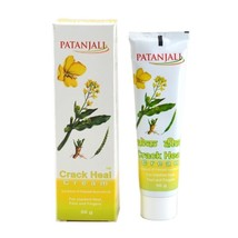 2 x 50 gm PATANJALI CRACK HEEL CREAM HERBAL OINTMENT FOR CRACKED HEELS - $9.62