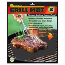 Miracle Grilling Mat Set Of 2 Non-Stick Grill Mats BBQ Bar B Que Barbequ... - €14,46 EUR