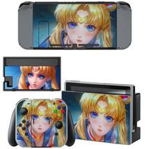 Nintendo Switch JoyCon Dock Console Vinyl Skin Sticker Sailor Moon Tsukino Usagi - $9.50
