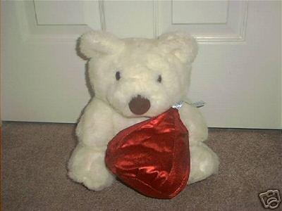 "HERSHEY KISSES Plush WHITE BEAR 11"" TALL EXC COND!"