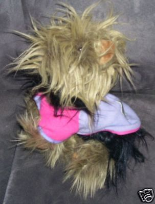 Battat YORKSHIRE TERRIER YORKIE Plush EXC! Dressed