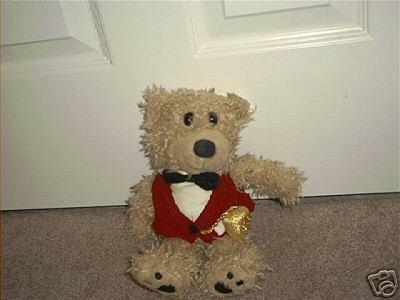"GIBSON GREETINGS ~DEBONAIR BEAR~ PLUSH 1998 10"" EXC!"