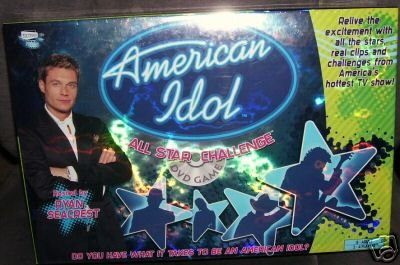 AMERICAN IDOL ALL STAR CHALLENGE DVD BOARD GAME NEW!