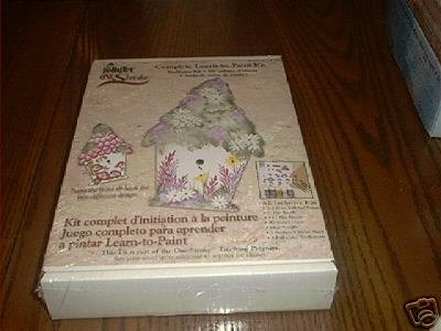 ONE STROKE COMPLETE LEARN TO PAINT ~BIRDHOUSE KIT~ NEW!