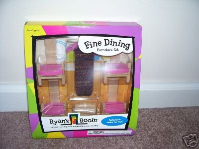 Ryan's Room FINE DINING FURNITURE WOODEN SET NIB HTF!