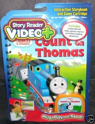 Story Reader VIDEO PLUS COUNT ON THOMAS Book Cartridge NEW