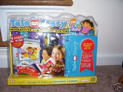 TELE STORY INTERACTIVE STORYBOOK SYSTEM w/DORA CART NIB