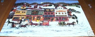 WINTER VILLAGE Jigsaw Puzzle 100% COMPLETE 1978 HTF!