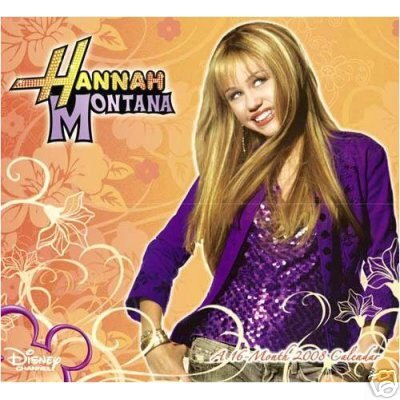 HANNAH MONTANA * 2008 * 16 MONTH WALL CALENDAR * NEW