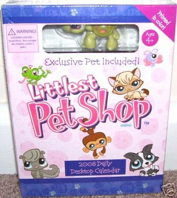 THE LITTLEST PET SHOP 2008 DESK CALENDAR +EXCLUSIVE PET