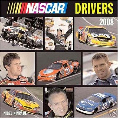 NASCAR DRIVERS 2008 WALL CALENDAR * NEW & SEALED! *