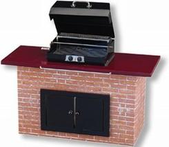 DOLLHOUSE Backyard Barbecue Grill Empty 1.712/0 BBQ doors Reutter Miniature - $53.58