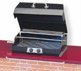 DOLLHOUSE Backyard Barbecue Grill Empty 1.712/0 BBQ doors Reutter Miniature