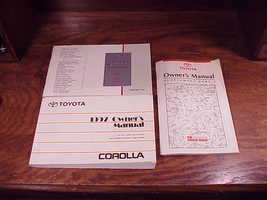 1997 Toyota Corolla Owner's Manual and Supplements 1, 2  - $9.95