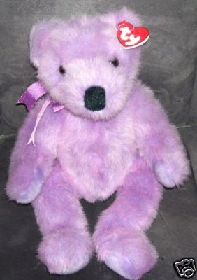 TY CLASSIC * LILACBEARY BEAR * Plush NEW WITH TAGS 1999