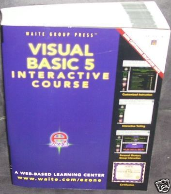 VISUAL BASIC 5 INTERACTIVE COURSE Book NEW! Softcover - with NEW CD