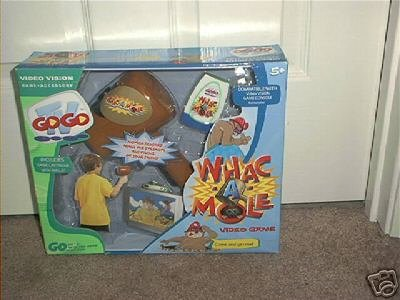 WHAC-A-MOLE VIDEO VISION GAME & MALLET SET BRAND NEW!