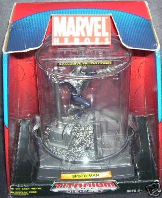 Marvel Heroes SPIDERMAN Titanium Diecast Figure with Patina Finish NEW