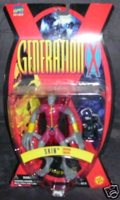 X-MEN GENERATION X SKIN Action Figure NEW 1995 w/STAND