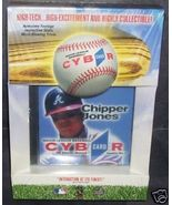 Atlanta Braves CHIPPER JONES CYBR CARD CD-ROM NIB HTF - $11.96