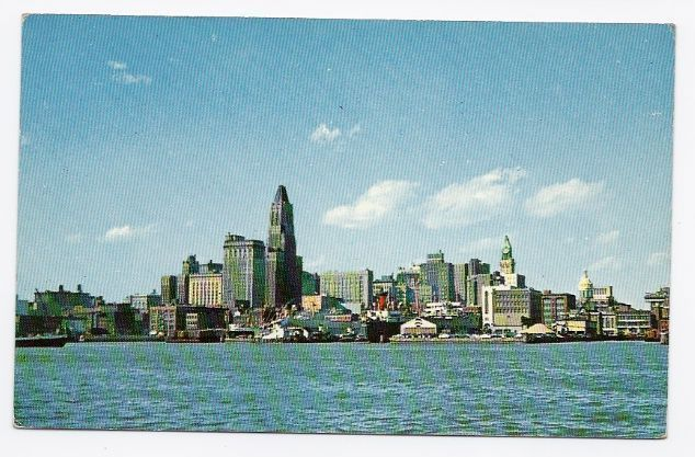 Primary image for c1940s - Skyline and Inner Harbor - Baltimore MD - Unused