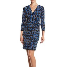 Anne Klein Wrap Dress, Blue, Size 8 - $784,54 MXN