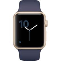 Apple Watch Gen1 38mm Gold Alum Case Midnight Blue MQ102LL/A Read Descri... - $207.00