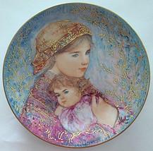 Edna Hibel Mothers Day Collector Plate Emily and Jennifer Porcelain - $27.99