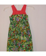 Girls  dress  green print with lady bugs and tr... - $17.00