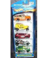 Hot Wheels SKATEBOARDERS 5 Pack Gift Set NEW From 2000 - $19.96