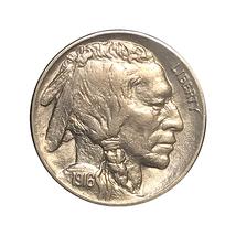 1916 P Buffalo Nickel - Gem BU / MS / UNC - Better Grade - $55.45