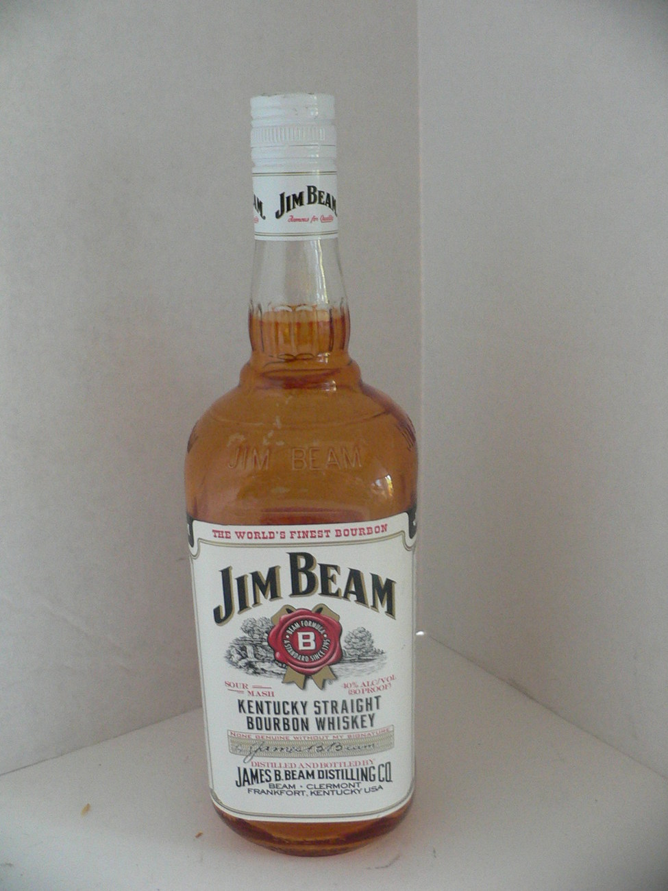 5 Jim Beam 1 Liter Bottle Unopened Empty Amber Colored