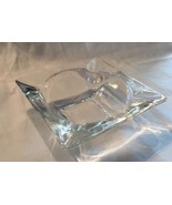 "Vintage Clear Glass Crystal Anchor Hocking? 3 1/2"" Ashtray Cigar Cigaret... - $5.50"