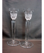 "MIKASA Clear Cut Crystal Glass 8.5"" Candlestick/Votive Candle Holders - $17.99"