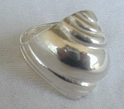 Shell silver ring - $26.00