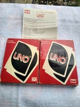 2 COMPLETE Vintage 1979 & 1983 UNO Playing Card Decks Game 83 Instructio... - $18.90