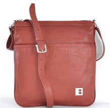 NEW BALLY SWITZERLAND UNISEX BAGGINA 121 BRICK CALF LEATHER MESSENGER PU... - $312.55