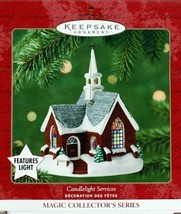 2001 HALLMARK ORNAMENT CANDLELIGHT SERVICES BRICK CHURCH WITH LIGHT, #4 - $14.99