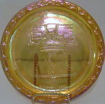 Carnival Glass Liberty Bell Plate - $15.00