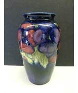 "Vintage William Moorcroft PANSY Vase Blue Art Pottery England Art Deco 8"" - $272.25"