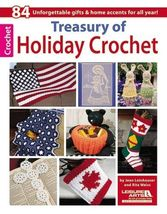 An item in the Crafts category: Treasury of Holiday Crochet Patterns Christmas Madonna&Child Filet Afghan Decor