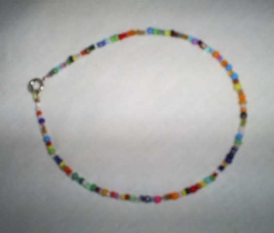 Primary image for Handcrafted Assorted Color Seed Bead Bracelet, 9 inch,  New