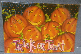 Trick or Treat Jack-o-lantern Large Halloween Sign Magnet Magnetic Banner - $5.99