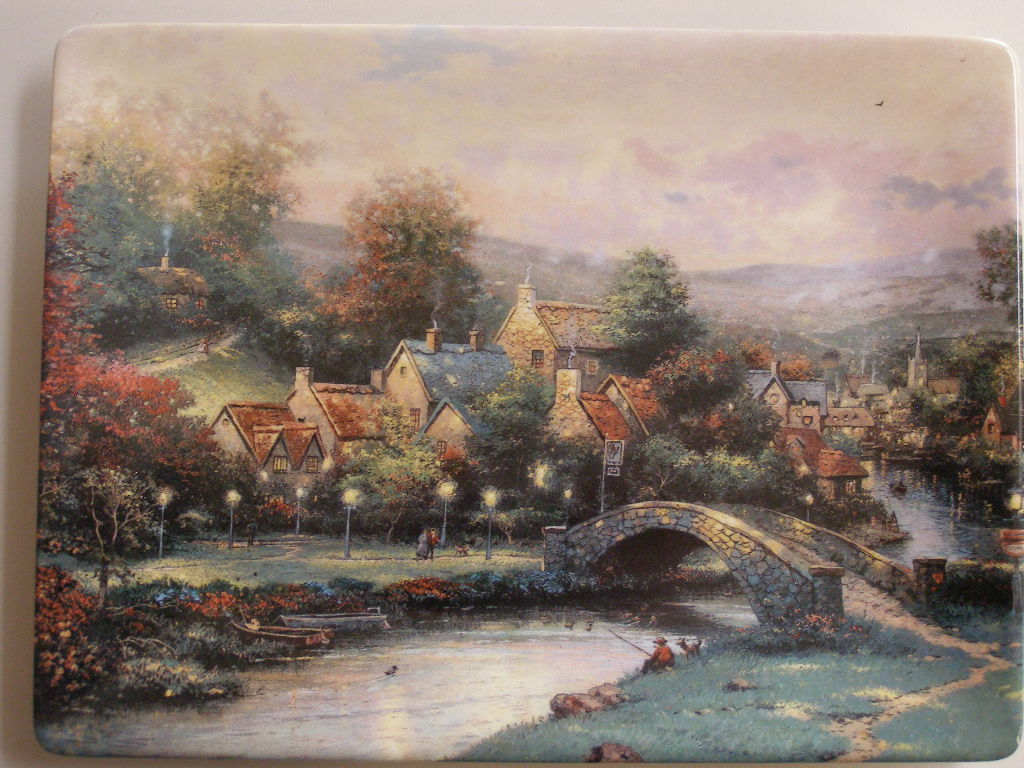"""LAMPLIGHT COUNTY"" BY THE LATE THOMAS KINKADE - SECOND ISSUE  - (sku#1720)"