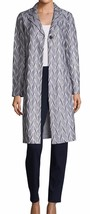 New with Tag - $1,795 St. John Ebele Bianco Multi Embroidered Long Jacket Size 0
